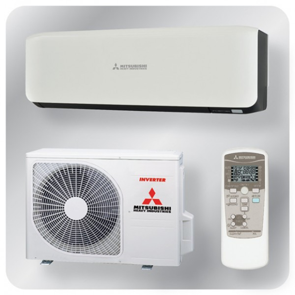 Wall mounted system 2.0kw R410a - premium inverter - black + white