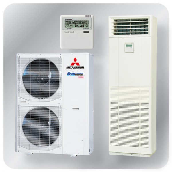 Floor Mounted system 14kw R410A - Hyper Inverter