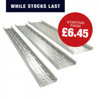 Medium Duty Cable Tray (Hot Dip Galvanised) Cable Tray 100MM X 3M Medium Duty HDG