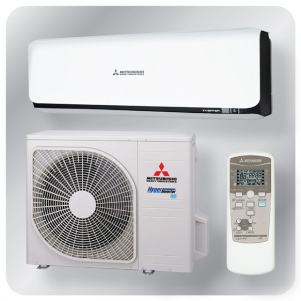 Wall mounted system 2.5kw R32 - Diamond Inverter - black + white