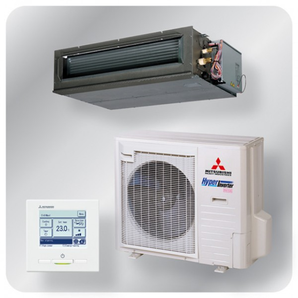 High static Ducted system 10kw R410A - Hyper Inverter - 3ph